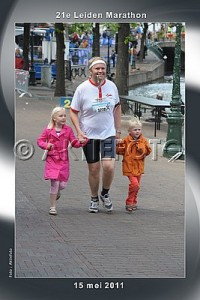 Marcus running last 100 meters with kids